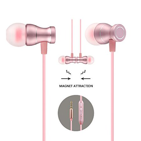 Acode in-Ear Earbuds Earphones Headphones, 3.5mm Metal Housing Magnetic Best Wired Bass Stereo Headset Built-in (Best Ibanez Bass For Metal)