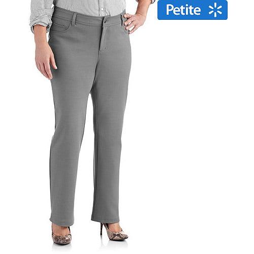 Faded Glory Women's Plus-Size Petite Bootcut Ponte Knit Pants