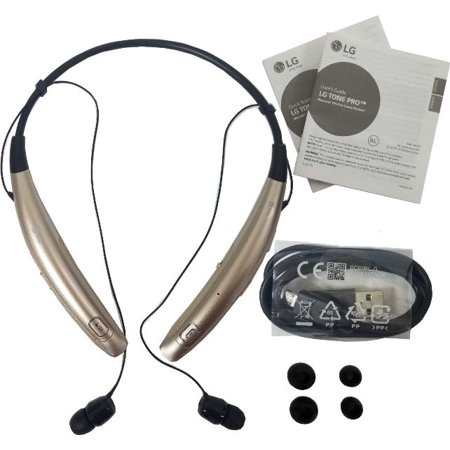 78ea47cae5e LG Electronics MAIN-69555 LG Tone Pro HBS-770 Wireless Stereo Headset -  Gold (Open Box) - Walmart.com