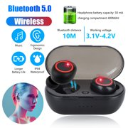 Wireless Earbuds,TWS Stereo Deep Bass Headset Waterproof Headphones in-Ear Touch Control Earbuds Built-in Mic for Sport, Gym, Running, Compatible with iPhone Samsung Android