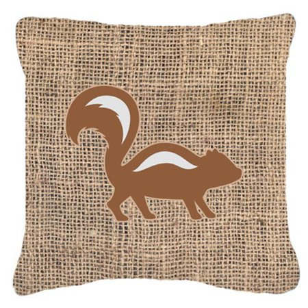 Carolines Treasures BB1125-BL-BN-PW1414 Skunk Burlap & Brown Decorative Fabric Pillow - image 1 de 1
