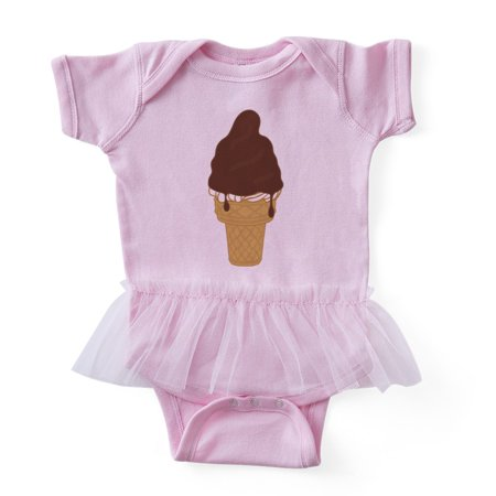 - CafePress - Chocolate Dip Ice Cream Cone - Cute Infant Baby Tutu Bodysuit