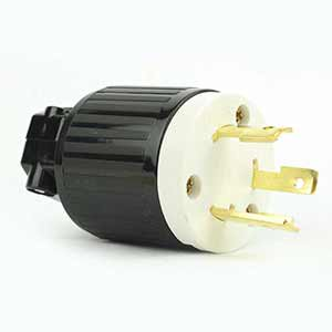 Superior Electric YGA024 Twist Lock Electrical Plug 3 Wire, 30 Amps, 125V, NEMA L5-30P - YGA024