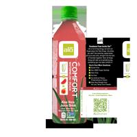 Alo Comfort Aloe Vera Juice, Watermelon Peach, 16.9 Fl Oz, 12 Count
