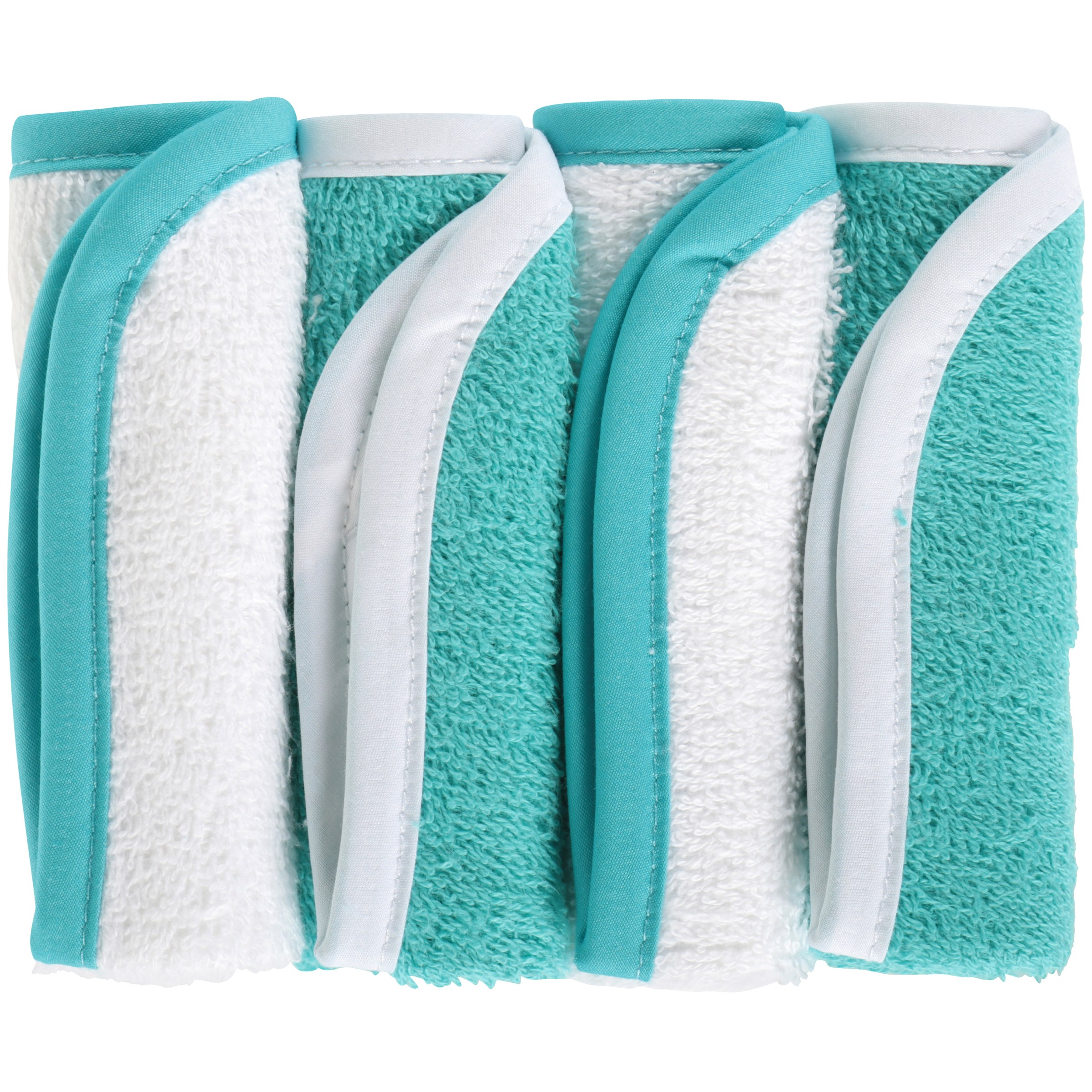 TL Care® Aqua Cotton Terry Washcloths 4 ct Pack