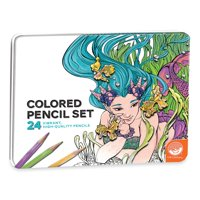 's Colored Pencils in a Tin Set of 24, ARTISTIC QUALITY: MindWare's Colored Pencils in a Tin set of 24 makes coloring book pages come to life! Perfect for any.., By MindWare