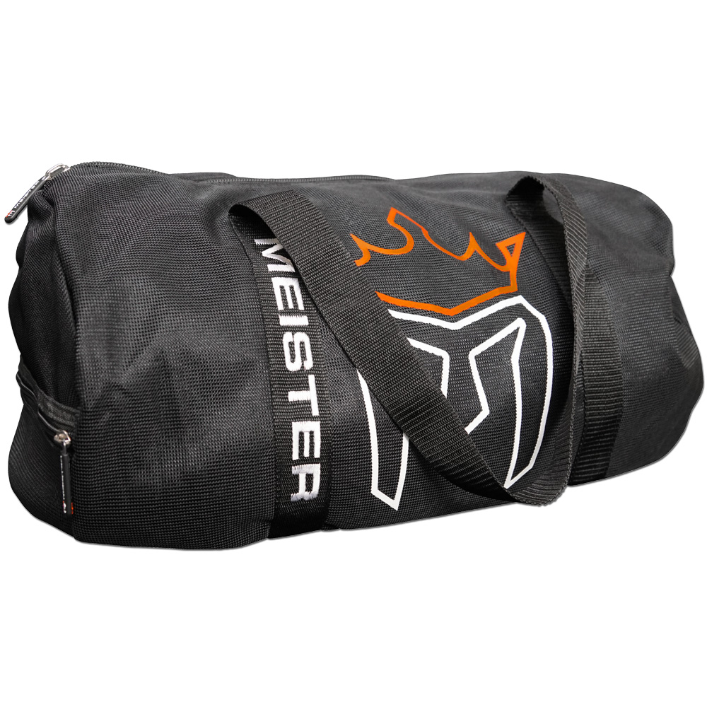 Meister CLASSIC Chain Mesh Duffel Gym Bag  -  Black