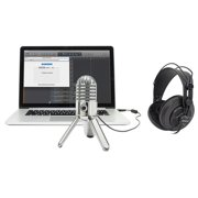 Samson Podcast Recording Podcasting Microphone+Studio Headphones+Cables+Case