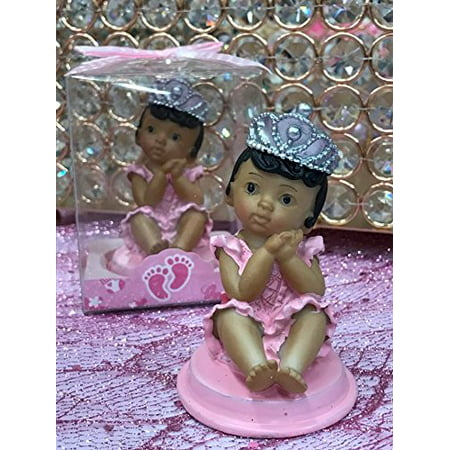 Ethnic Baby Girl Princess Baby Shower Or 1st Birthday Cake Topper Or Party Favor Keepsake (Girls Birthday Party Favors)
