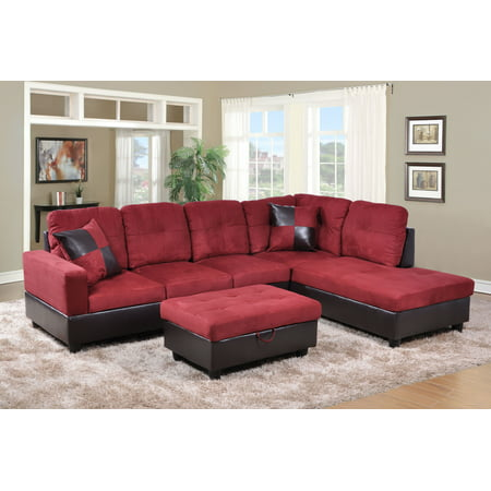 Hermann Right Chaise Sectional Sofa With Storage Ottoman