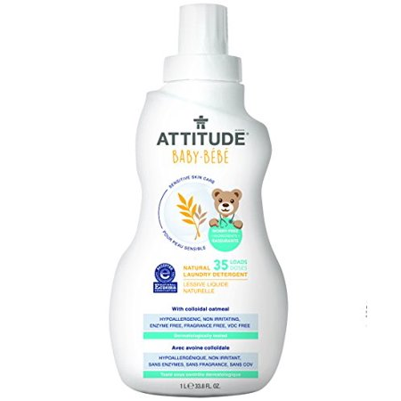 Best Attitude Baby Sensitive Skin Care Laundry Detergent, Fragrance Free, 35 Loads deal