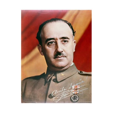 Official Portrait of General Francisco Franco Print Wall - Official Portrait