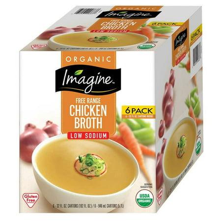 Product of Imagine Organic Low-Sodium Chicken Broth, 6 ct./32 oz. [Biz