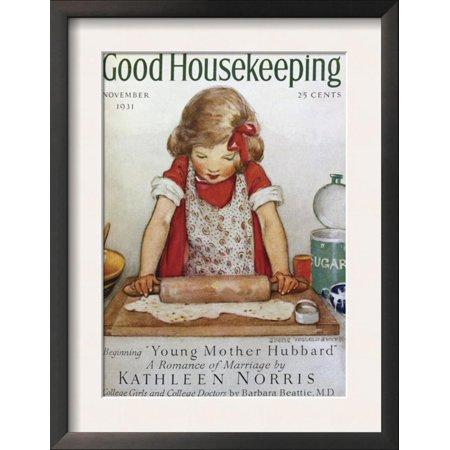 Good Housekeeping, November, 1931 Framed Art Print Wall Art  - 14x18