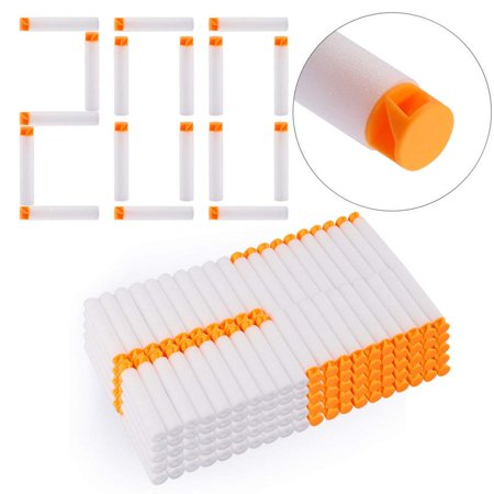 Zerone 200pcs 10 Colors Toy Gun Soft Refill Bullets Darts EVA Foam for N-Strike Elite