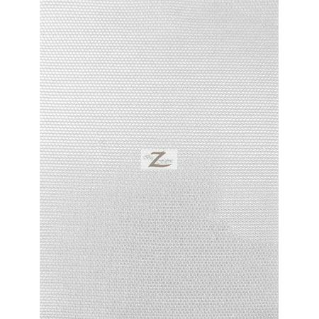 Solid Power Mesh Nylon Spandex Fabric - White ()