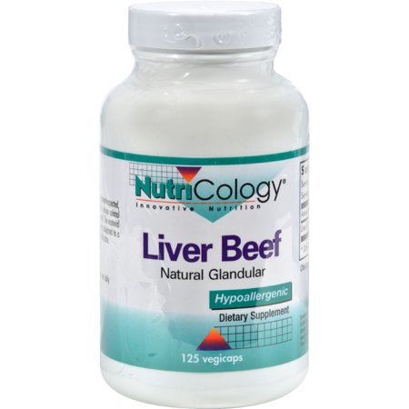 Liver Organic Glandular 125 Capsules (NutriCology Liver Organic Glandular - 125 Vegetarian)