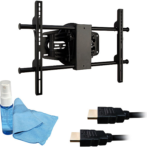 """Ematic Full-Motion Wall Mount Kit for 37"""" to 50"""" TV With 6FT HDMI Cable, 15FT HDMI Cable, Cleaning Solution, Cleaning Cloth, EMW5001"""
