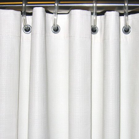 CSI Bathware Textured Vinyl Single Shower Curtain