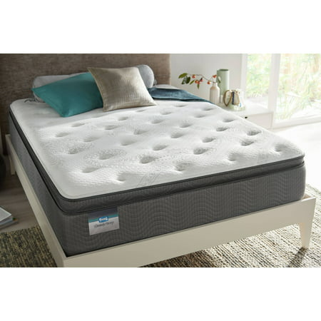 Simmons BeautySleep Whitfield Plush Pillow Top Mattress Set- In Home White-Glove Delivery Included