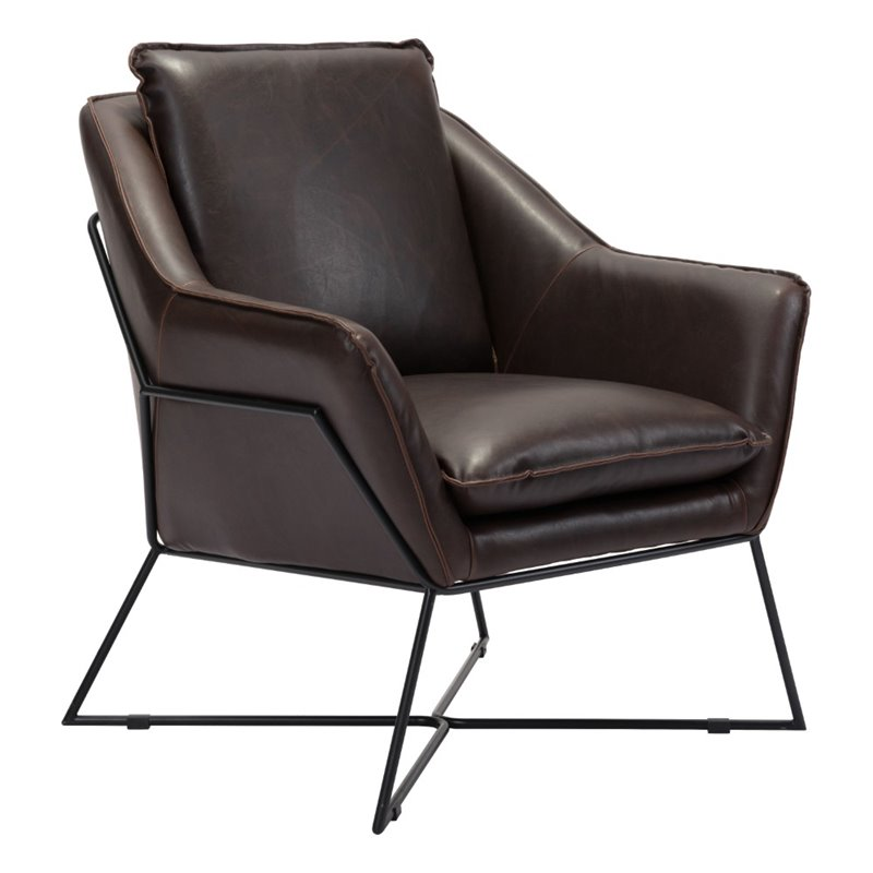 Zuo Lincoln Accent Chair in Brown