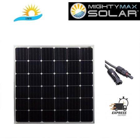 150 Watt 12v Mono Solar Panel Rv Camping Boat Dock Battery
