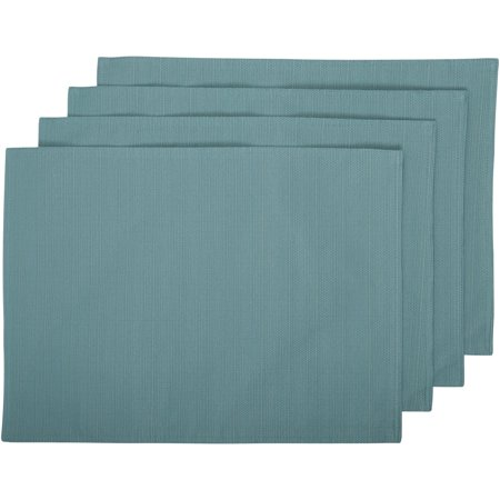 Better Homes And Gardens Teal Placemat Set 4 Ct Pack