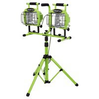 Designers Edge L5502SW 1400 Watt Green Twin-Head Adjustable Work Light W/ Tripod