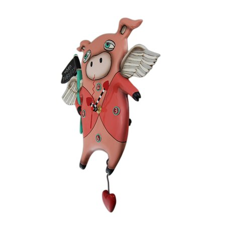 Allen Designs When Pigs Fly Pendulum Wall Clock 13 in. - image 2 of 3