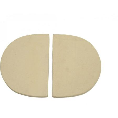 Primo 325 Ceramic Heat Reflector Plates for Primo Oval Junior Grill, 2 per Box
