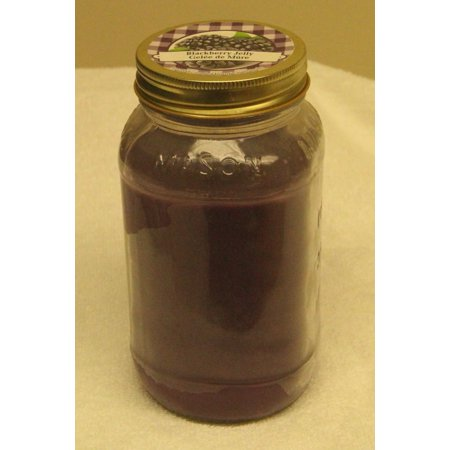 Old Williamsburgh Blackberry Jelly Candle, 18 Ounce Mason Jar
