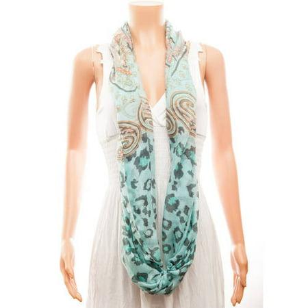 Celik Women's Infiniti Scarves Multi Pattern On Solid Color Background