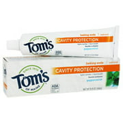 Toms Of Maine Cavity Protection With Baking Soda Natural Fluoride Toothpaste, Peppermint - 5.5 Oz, 6