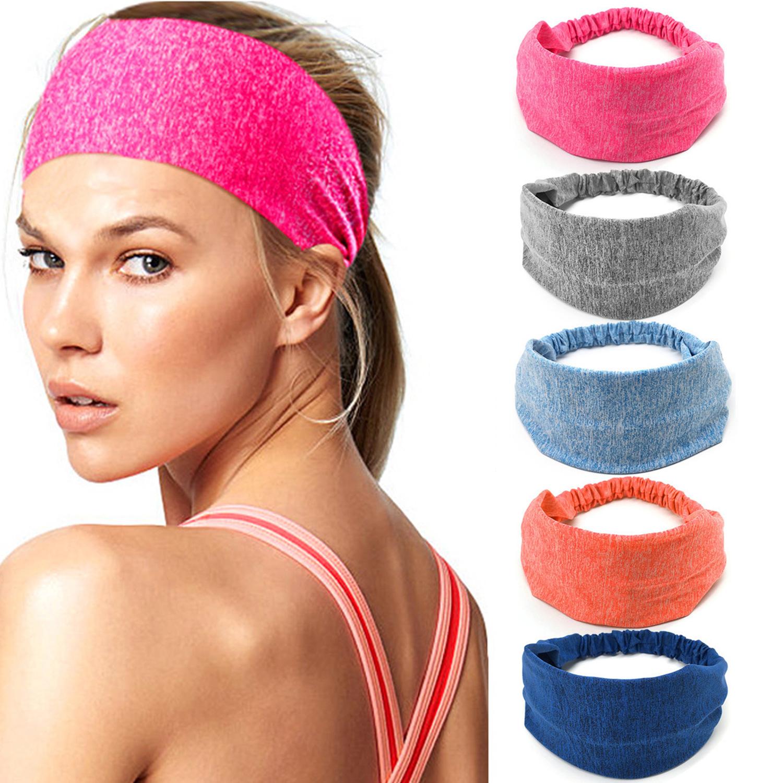 Women Elastic Wide Headband Sports Yoga Running Hair Band Turban Headwraps  lady