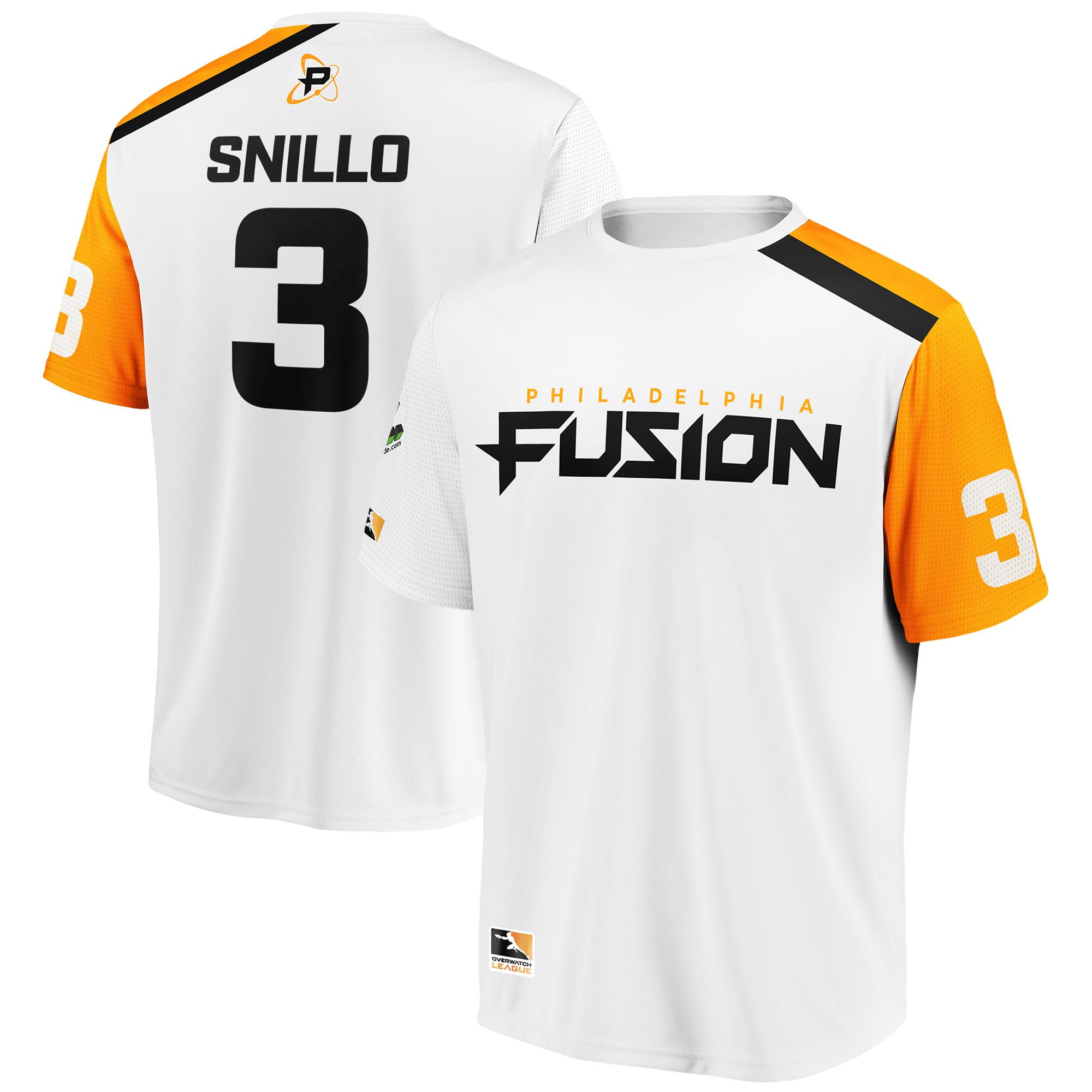 snillo Philadelphia Fusion Overwatch League Replica Away Jersey - White