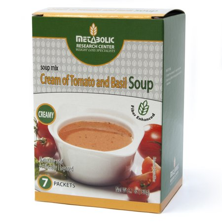 Cream of Tomato and Basil Protein Enhanced Soup by Metabolic Research Center, 15g protein per