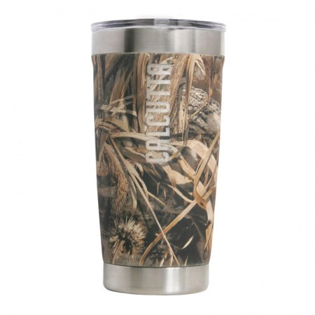 Calcutta Fishing Powder Coated Stainless Steel Traveler Mug 20oz  RealTree Max-5](Real Steel Age Rating)