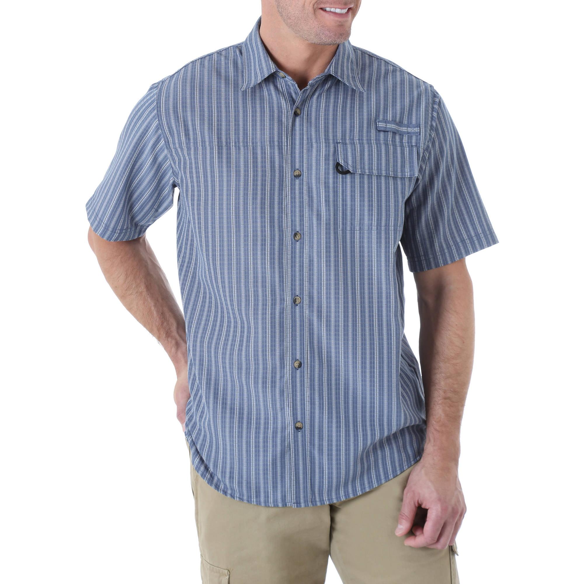 Wrangler Mens' Short Sleeve Plaid Utility Shirt