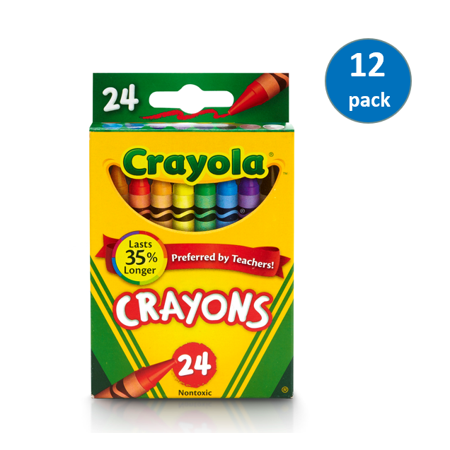- Crayola 24 Count Classic Crayons, Pack of 12