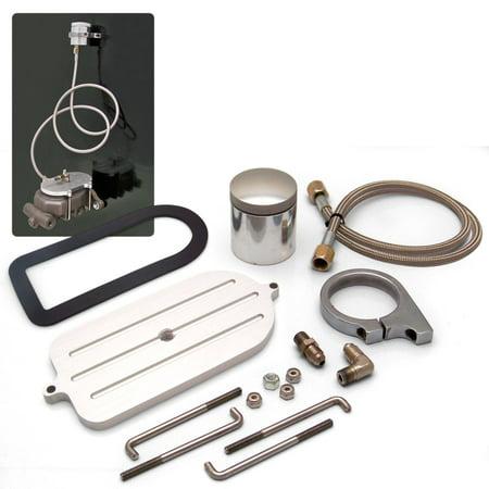 - Billet Remote Brake Reservoir Kit with Large Tank for Big Ford Master Cylinder