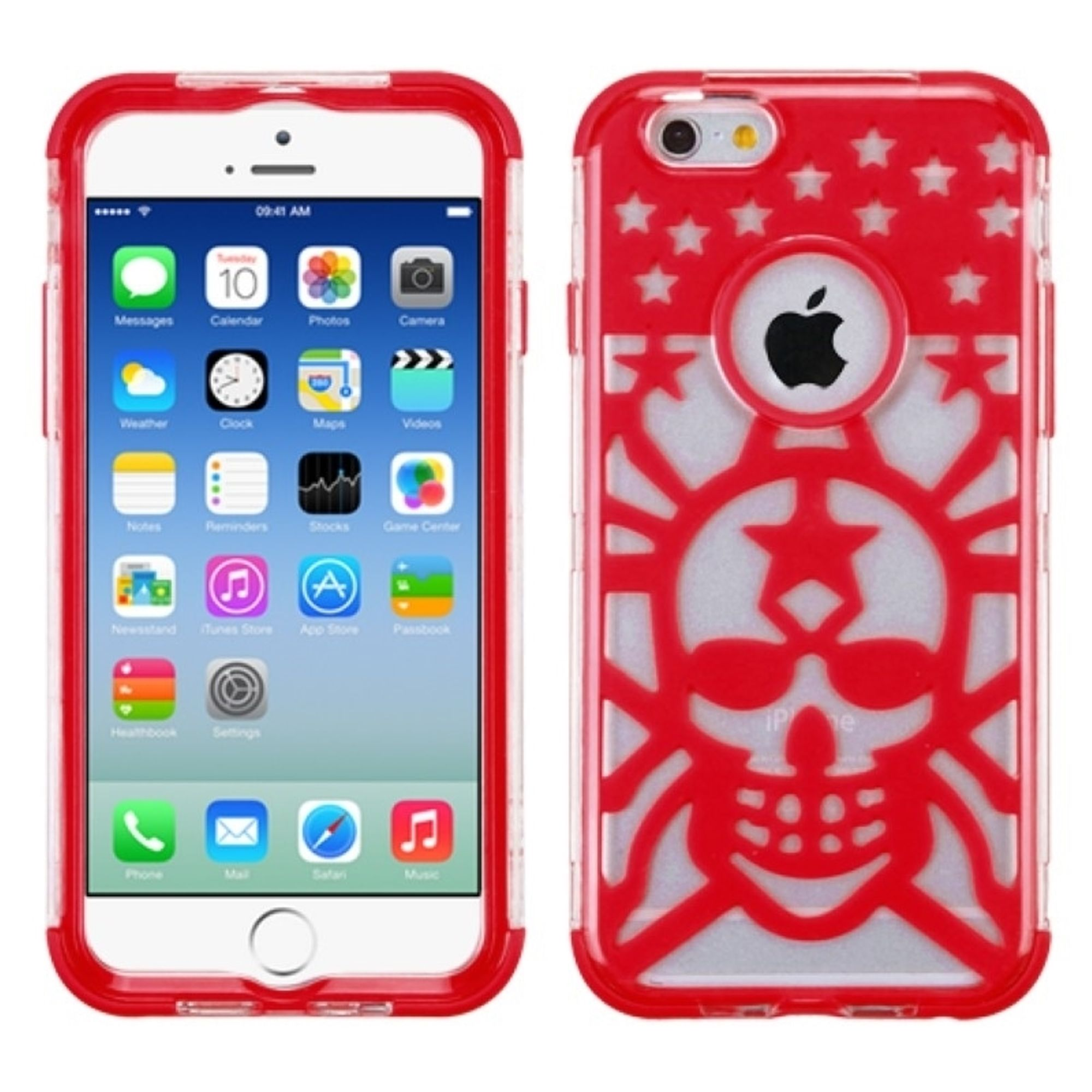 iPhone 6S case, iPhone 6 Case, by Insten Glow Spider Web Hard Dual Layer Crystal Silicone Cover Case For iPhone 6s 6 (4.7 inch) case cover