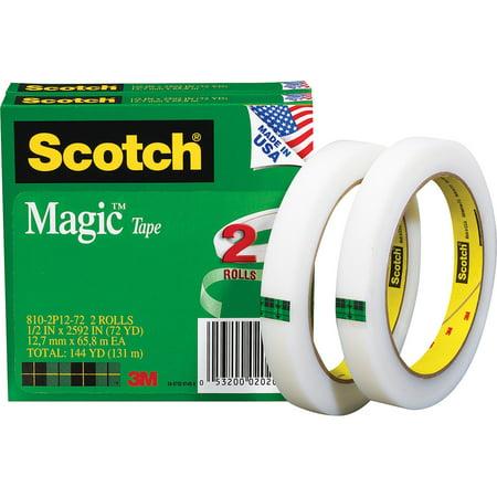 Scotch, MMM8102P1272, Invisible Magic Tape, 2 / Pack, Matte Clear