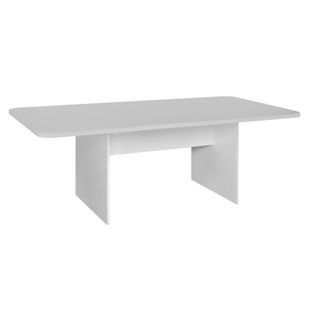 Niche Mōd 7' Conference Table with No-Tools Assembly- White Wood Grain