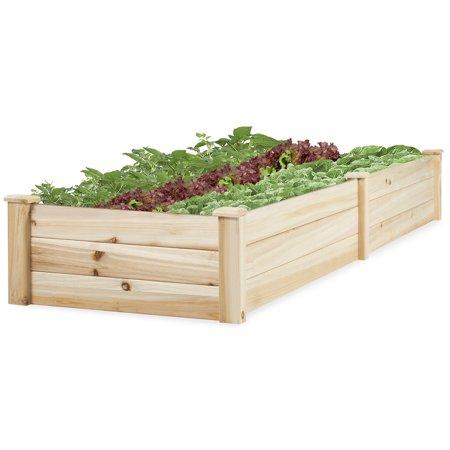 Best Choice Products Wooden Raised Garden Bed- (Best Way To Build Raised Garden Beds)