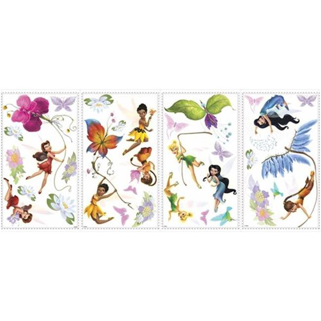 Roommate RMK1493SCS Disney Fairies Wall Decals with Glitter