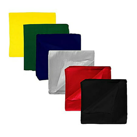 Qraftsy Plain Color Double Sided 100% Polyester XL Bandana - 27 x 27 Inch - 24 Pack