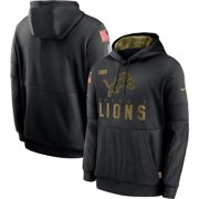Detroit Lions Nike 2020 Salute to Service Sideline Performance Pullover Hoodie - Black