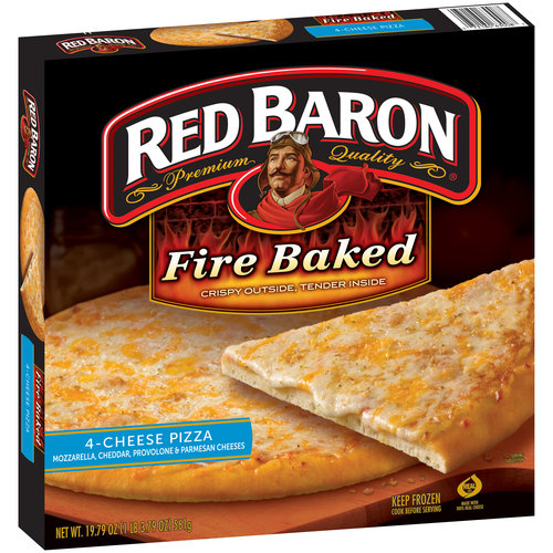 Red Baron 4 Cheese Fire Baked Original Crust Pizza, 19.79 oz