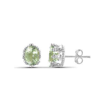 Light Amethyst Stones (2.60 Carat Green Amethyst Gemstone Earrings)