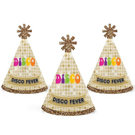 70s Hat (70's Disco - Mini Cone 1970s Disco Fever Party Hats - Small Little Party Hats - Set of 10 )